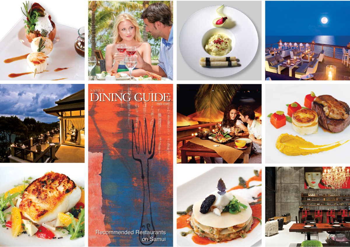 Samui Dining Guide is an up-market, specialist-vehicle, ideal for promoting up-market restaurants to thousands of visitors to Koh Samui
